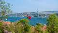 Bosphorus istanbul turkey view from ortakoy district in Stock Photography