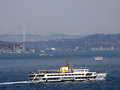 Bosphorus ships view of istanbul turkey Stock Images