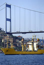Bosphorus traffic Stock Images