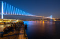The Bosporus Bridge, Istanbul. Royalty Free Stock Photo