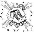 Bosquejo del patinaje sobre ruedas Foto de archivo libre de regalías
