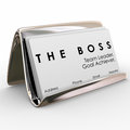 The Boss Business Card Holder Manager President Executive Leader