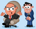 Boss and Employee Cartoon Stock Photo