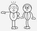 Boss and employee cartoon Stock Image