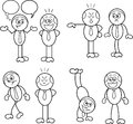 Boss and employee set cartoon Royalty Free Stock Photography