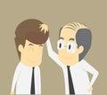 Boss encourage businessman