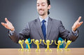 Boss with figures of  subordinates Royalty Free Stock Images