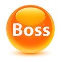 Boss glassy orange round button