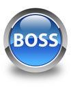 Boss glossy blue round button