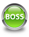 Boss glossy green round button