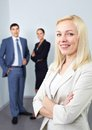 Boss and her colleagues Royalty Free Stock Photo