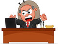 Boss man angry cartoon and shouting Royalty Free Stock Photos