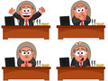Boss man set cartoon Royalty Free Stock Photo