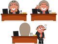Boss man set cartoon Stock Photography