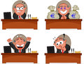 Boss man set cartoon Stock Image