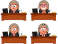 Boss man set cartoon Stock Photo