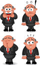 Boss man set cartoon Royalty Free Stock Photography