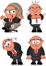 Boss man set cartoon Stock Photos