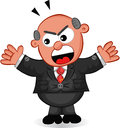 Boss man shouting cartoon angry Royalty Free Stock Image
