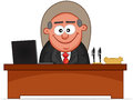 Boss man smiling cartoon happy and Stock Images