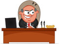 Boss man sneaky cartoon is Stock Images