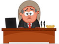 Boss man unhappy cartoon Royalty Free Stock Photo