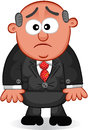 Boss man unhappy cartoon Royalty Free Stock Images