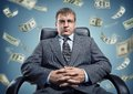 Boss with money Royalty Free Stock Photography
