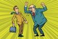 Boss scolds businessman