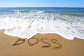 Boss written on beach golden sandy Royalty Free Stock Photo