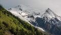 The Bossons Glacier, Dôme du Goûter (4304m) and Aiguille du Goûter (3863m)