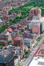 Boston aerial view Stock Photos