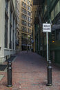 Boston back alley small in downtown Royalty Free Stock Photography
