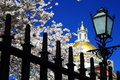 Boston City in Spring - Massachusetts State House Royalty Free Stock Photo