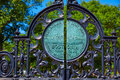 Boston Common park Arlington gate Royalty Free Stock Photo