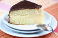 Boston cream pie on the table Royalty Free Stock Photography