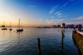 Boston Harbor early on a summer morning Royalty Free Stock Image