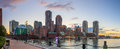 Boston Harbor and Financial District Royalty Free Stock Photo