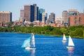 Boston Harvard Bridge in Charles river Royalty Free Stock Photo