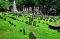 Boston ma th century graves at grannary burial ground tourists meander along the pathways in the historic a stop on the freedom Royalty Free Stock Photo