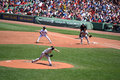 Boston majorl league baseball game at fenway park Royalty Free Stock Photos