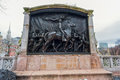 BOSTON, MASSACHUSETTS - JANUARY 06, 2014: Robert Gould Shaw Memorial Boston Royalty Free Stock Photo