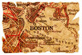 Boston old map Royalty Free Stock Photography