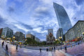 Boston panoramic photo of in massachusetts usa copley square in downtown at sunset Stock Image