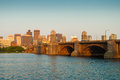 Boston's Longfellow Bridge Stock Images