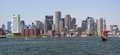 Boston skyline, Inner Harbor Royalty Free Stock Photo