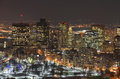Boston skyline at night massachusetts usa back bay from top of prudential center Royalty Free Stock Photos