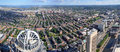 Boston skyline panorama massachusetts usa back bay from top of prudential center facing south Stock Photos