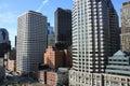 Boston Skyline with skyscrapers Royalty Free Stock Photo