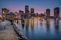 Boston waterfront and harbour